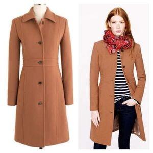 J. Crew Tall Classic Lady Day Coat in Italian Wool